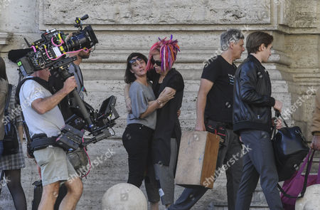 Editorial image of 'Sense8' on set filming, Naples, Italy - 26 Oct 2017