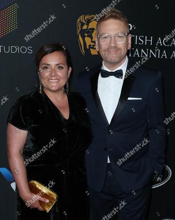 Kenneth Branagh and wife Lindsay Brunnock