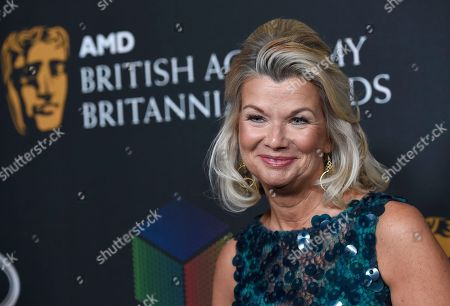 Chantal Rickards, CEO of BAFTA Los Angeles, arrives at the BAFTA Los Angeles Britannia Awards at the Beverly Hilton Hotel, in Beverly Hills, Calif
