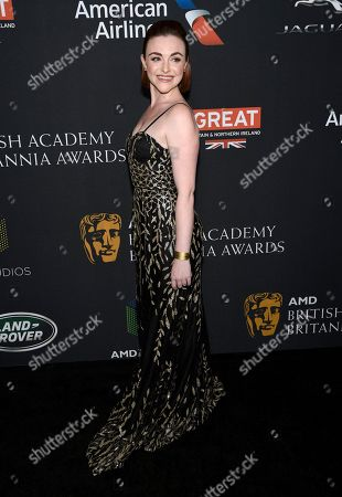 Stock Photo of Cassie Compton arrives at the BAFTA Los Angeles Britannia Awards at the Beverly Hilton Hotel, in Beverly Hills, Calif