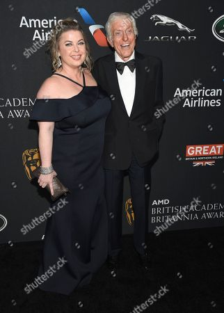 Dick Van Dyke, Arlene Silver. Dick Van Dyke, right, and Arlene Silver arrive at the BAFTA Los Angeles Britannia Awards at the Beverly Hilton Hotel, in Beverly Hills, Calif