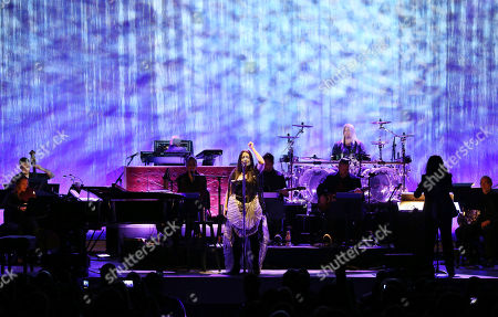 Stock Image of Amy Lee, Tim McCord, Will Hunt, Troy McLawhorn, Jen Majura. Amy Lee, Tim McCord, Will Hunt, Troy McLawhorn and Jen Majura with Evanescence performs at Chastain Park Amphitheatre, in Atlanta