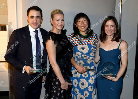 Michael Schmidt, Chelsea Handler, Katie Benner, Emily Steel. Michael Schmidt, from left, Chelsea Handler, Katie Benner and Emily Steel backstage at the 27th Annual PEN Center USA Literary Awards Festival at the Beverly Wilshire Hotel, in Beverly Hills, Calif