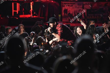 Mike Shinoda performs during Linkin Park and Friends Celebrate Life in Honor of Chester Bennington at the Hollywood Bowl, in Los Angeles