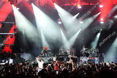 Linkin Park performs at Linkin Park and Friends Celebrate Life in Honor of Chester Bennington at the Hollywood Bowl, in Los Angeles