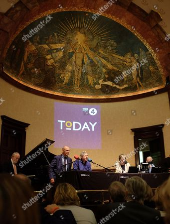 Sir Clive Ronald Woodward OBE appears on BBC Radio 4's Today programme's 60th anniversary, presented by Justin Webb, Sarah Montague and John Humphrys, Wigmore Hall, London.