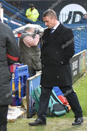 Stock Photo of Bury Manager, Lee Clark during the EFL Sky Bet League 1 match between Bury and Doncaster Rovers at the JD Stadium, Bury