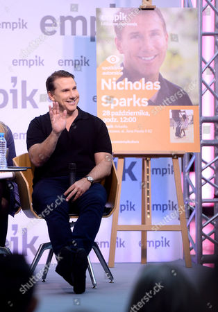 Editorial photo of Nicholas Sparks book promotion, Warsaw, Poland - 28 Oct 2017