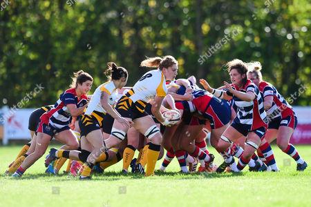 Harriet Millar-Jones of Wasps Ladies in action