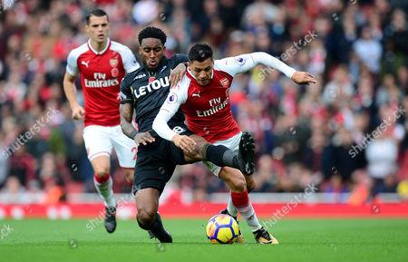Editorial photo of Arsenal v Swansea City, UK - 28 Oct 2017