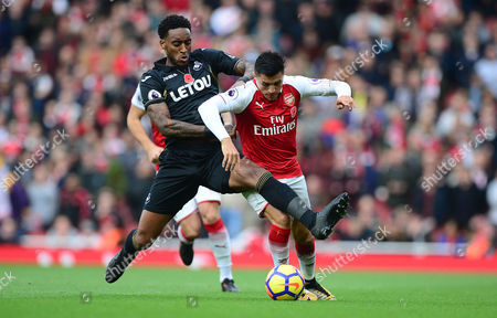 Editorial picture of Arsenal v Swansea City, UK - 28 Oct 2017
