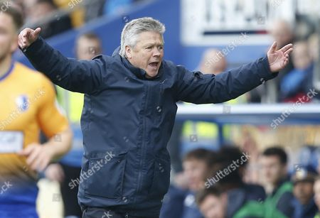 Steve Perryman on the touchline during the Skybet League Two Match between Mansfield Town and Exeter City at One Call Stadium, Mansfield on Oct 28