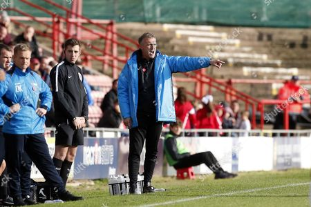 O's manager Steve Davis during Wrexham vs Leyton Orient, Vanarama National League Football at the GlyndÂ?µr University Racecourse Stadium on 28th October 2017