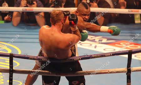 Stock Image of Dillian Whyte fights Robert Helenius