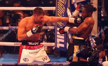 Frank Buglioni lands a punch on Craig Richards