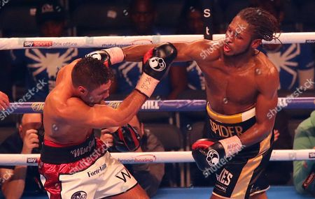 Craig Richards lands a punch on Frank Buglioni