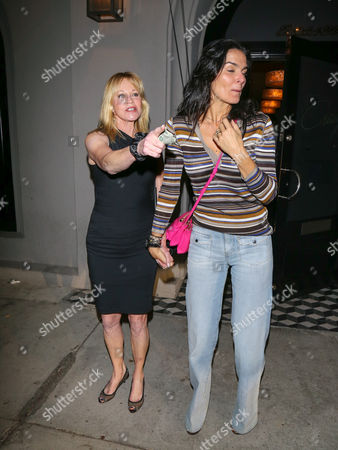 Editorial image of Melanie Griffith and Angie Harmon out and about, Los Angeles, USA - 27 Oct 2017