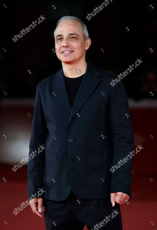 """Director Pablo Berger poses on the red carpet on the occasion of the screening of the movie """"Abracadabra"""", at the 12th edition of the Rome Film Fest, in Rome"""
