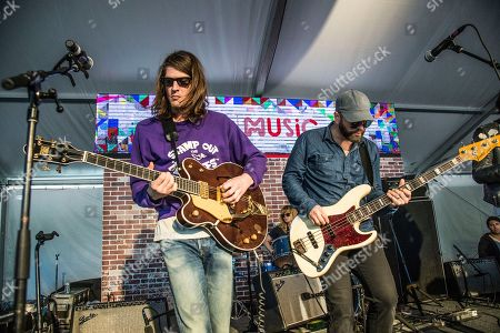 Stock Photo of Christian Bland, Alex Maas. Christian Bland, left, and Alex Maas of The Black Angels perform at the Voodoo Music Experience in City Park, in New Orleans