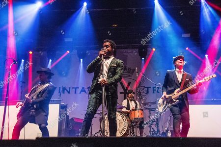 Nalle Colt, Ty Taylor, Richard Danielson, Rick Barrio Dill. Nalle Colt, from left, Ty Taylor, Richard Danielson and Rick Barrio Dill of Vintage Trouble perform at the Voodoo Music Experience in City Park, in New Orleans