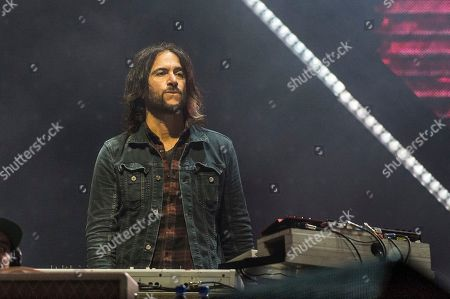 Rami Jaffee of the Foo Fighters performs at the Voodoo Music Experience in City Park, in New Orleans