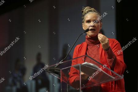 Michaela Angela Davis speaks during The Women's Convention at Cobo Center