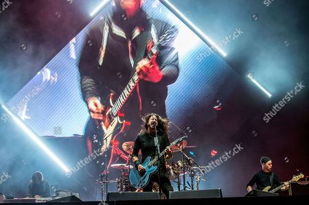 Rami Jaffee, Dave Grohl, Nate Mendel. Rami Jaffee, from left, Dave Grohl and Nate Mendel of the Foo Fighters perform at the Voodoo Music Experience in City Park, in New Orleans