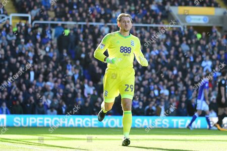 Birmingham City goalkeeper Tomasz Kuszczak (29) during the EFL Sky Bet Championship match between Birmingham City and Aston Villa at St Andrews, Birmingham