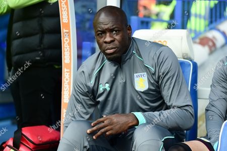 Aston Villa defender Christopher Samba (4) during the EFL Sky Bet Championship match between Birmingham City and Aston Villa at St Andrews, Birmingham