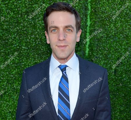In this photo, B. J. Novak arrives at the 19th annual Critics' Choice Movie Awards at the Barker Hangar in Santa Monica, Calif. The actor and author known for his work on The Office has a deal with Penguin Young Readers Group for The Book With No Pictures, billed as a picture book with words only. As Novak explained in a statement issued Tuesday, Jan. 21, 2014, by the publisher: Words are just as much fun as pictures