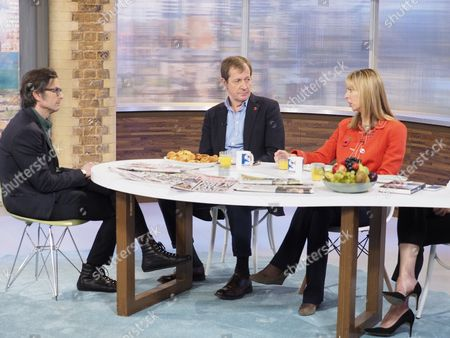 Robert Peston, Alastair Campbell and Camilla Cavendish