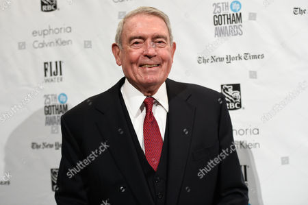 Journalist Dan Rather attends The Independent Filmmaker Project's 25th Annual Gotham Independent Film Awards in New York. Rather will host an hour-long television special in two weeks on five musicians who have died within the past 13 months, featuring his own interview with the late Merle Haggard. The special also focuses on Prince, David Bowie, Natalie Cole and B.B. King and is scheduled for June 7 on AXS-TV