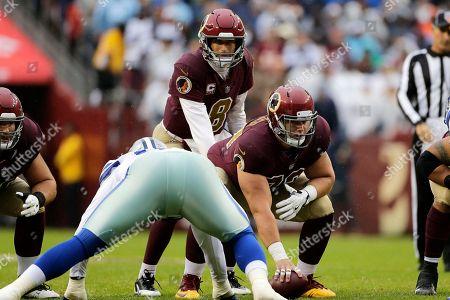 64cfea2f Washington Redskins center Chase Roullier (73) prepares to snap ...