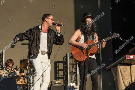 Jonathan Russell, Matt Gervais. Jonathan Russell, left, and Matt Gervais of The Head and the Heart perform at the Voodoo Music Experience in City Park, in New Orleans