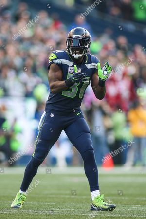 Seattle Seahawks safety Kam Chancellor (31) celebrates after a big defensive stop during a game between the Houston Texans and the Seattle Seahawks at CenturyLink Field in Seattle, WA on , 2017. The Seahawks defeated the Texans 41-38