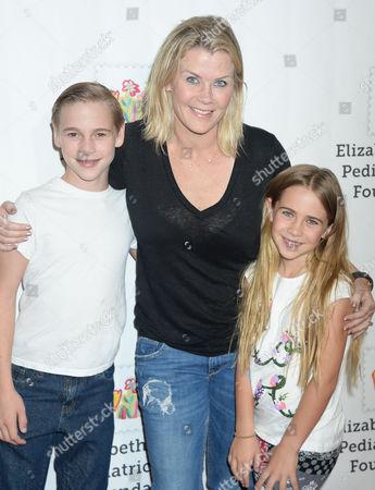 Alison Sweeney and son Benjamin Sanov and Megan Sanov