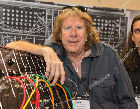 Stock Picture of Keith Emerson attends the 2015 National Association of Music Merchants (NAMM) show in Anaheim, Calif. A Los Angeles coroner's official said, that Emerson's death has been ruled a suicide after an autopsy revealed he shot himself in the head. Emerson was found dead in his Santa Monica condominium by his longtime partner early on Friday, March 11, 2016