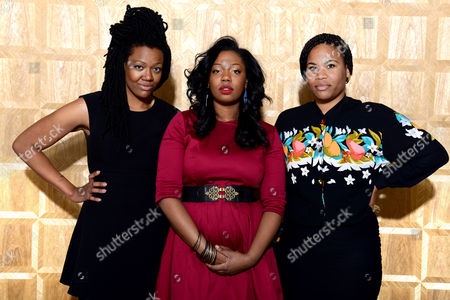 Paris Strother, Amber Strother and Anita Bias of the female musical trio, King, pose for portraits on in Los Angeles