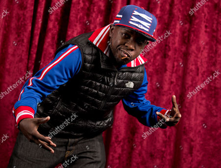 Stock Image of Malik Isaac Taylor aka Phife Dawg, of A Tribe Called Quest, poses for a portrait at Sirius XM studios in New York. Phife Dawg, a masterful lyricist whose witty wordplay was a linchpin of the groundbreaking hip-hop group died from complications resulting from diabetes. He was 45