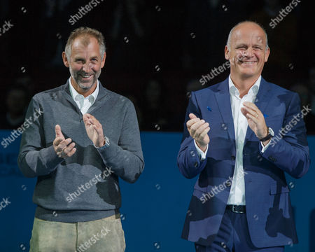 Stock Picture of Thomas Muster and Herwig Straka