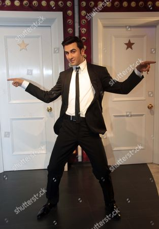 A wax figure of Bollywood actor Ranbir Kapoor displayed at Madame Tussauds Wax Museum at Connaught Place