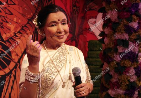 A wax figure of Bollywood singer Asha Bhosle displayed at Madame Tussauds Wax Museum at Connaught Place