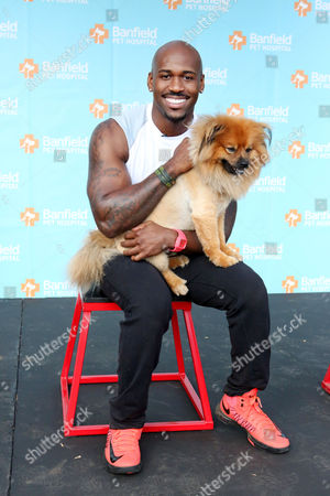 Banfield Pet Hospital and celebrity trainer Dolvett Quince, from NBC's hit television show 'The Biggest Loser,' hosts a fitness class for dogs and their owners at Barrington Park, on in Los Angeles. In an effort to raise awareness about overweight pets and the importance of healthy activity for pets and their owners, Quince and Banfield partnered together to develop this custom workout plan. To see Quince's canine-friendly workout tips, visit banfield.com/fitness
