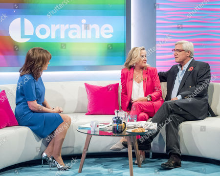 Stock Image of Steph and Dom Parker with Lorraine Kelly