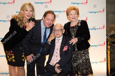 Stock Photo of From left, Margo MacNabb Nederlander, James L. Nederlander, James M. Nederlander and Charlene Nederlander attend the 8th Annual Exploring The Arts Gala benefit in New York. James M. Nederlander, who took over the fledgling Nederlander Organization from his father and built it into one of the largest producers of live entertainment and a dominant national theater chain that includes nine Broadway houses, died, . He was 94