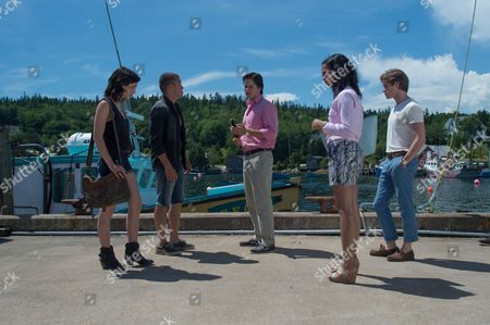 Stock Image of Emily Rudd, Skyler Maxon, Justin Kelly, Taylor Russell, Keenan Tracey