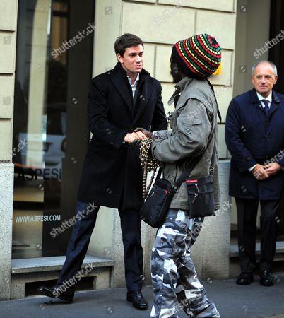Luigi Berlusconi and street vendor