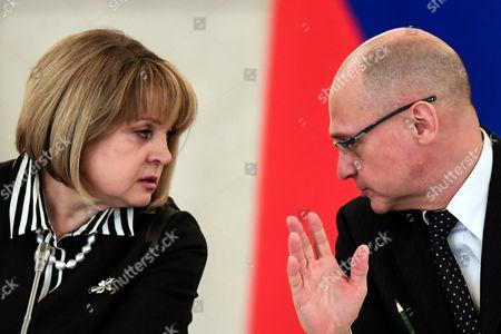 Ella Pamfilova and Sergei Kiriyenko