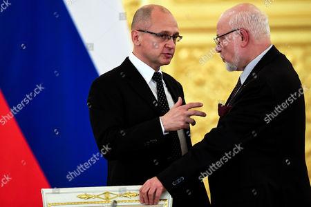 Mikhail Fedotov and Sergei Kiriyenko