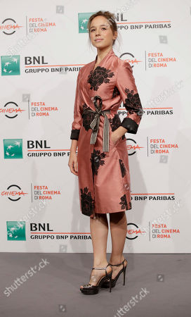 """Stock Photo of Actress Marina Occhionero poses during the photo call of the movie """"L' eta' Imperfetta"""", at the 12th edition of the Rome Film Fest, in Rome"""